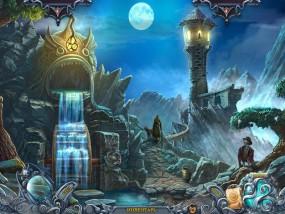 Тайны духов 5: Узы клятвы, искусственный водопад, башня на скале
